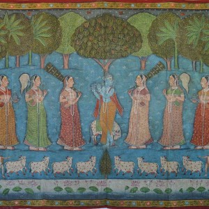 Krishna with Gopies | Pichwai Painting 0092