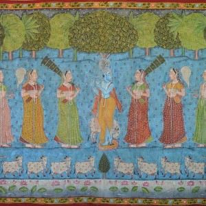 Krishna with Gopies | Pichwai Painting 0093