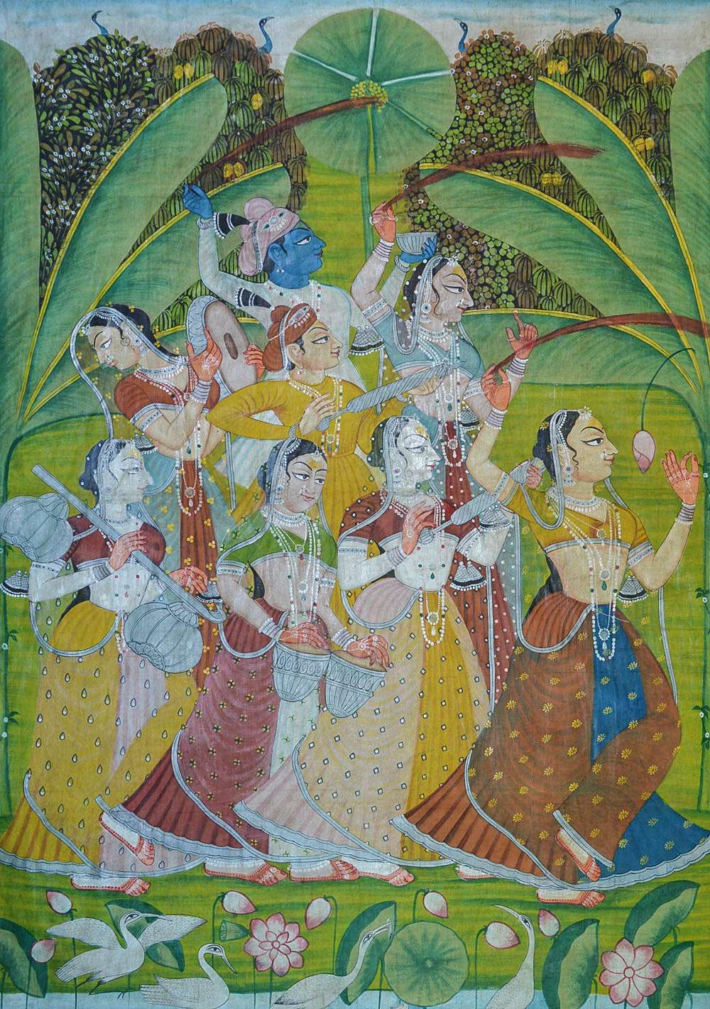 Holi festival pichwai painting lord krishna for Online art galleries reviews