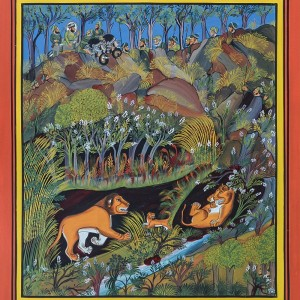 Lion Hunting   Miniature Painting 0170
