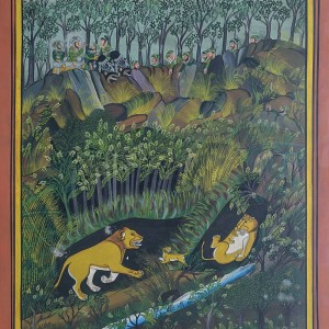Lion Hunting   Miniature Painting 0178