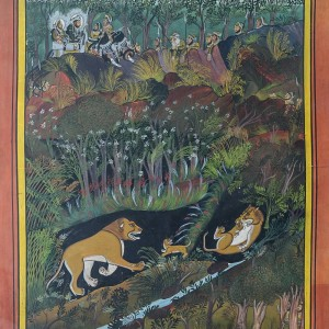 Lion Hunting   Miniature Painting 0188