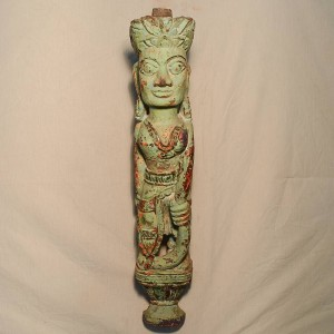 Wooden Handicrafts | Wooden Wall Hanging Lady Sculpture 0451