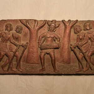 Wooden Handicrafts | Wooden Wall Hanging Aboriginal community Dancing Sculpture 0457