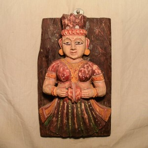 Wooden Handicrafts | Wooden Wall Hanging Lady Sculpture 0459