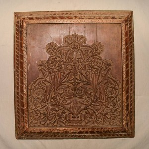 Wooden Handicrafts | Wall Hanging Engraved Leaf Wooden Frame 0460