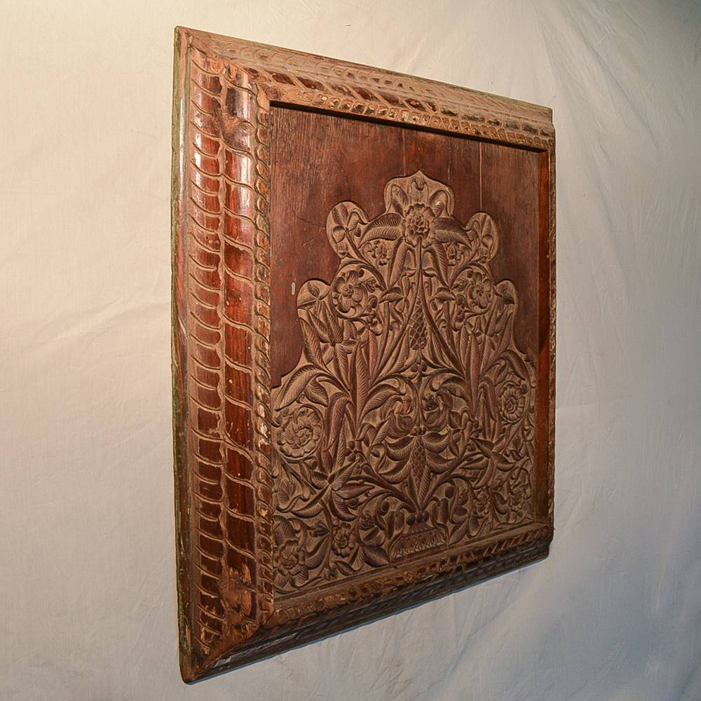 Wooden Handicrafts | Wall Hanging Engraved Leaf Wooden Frame — Lord ...