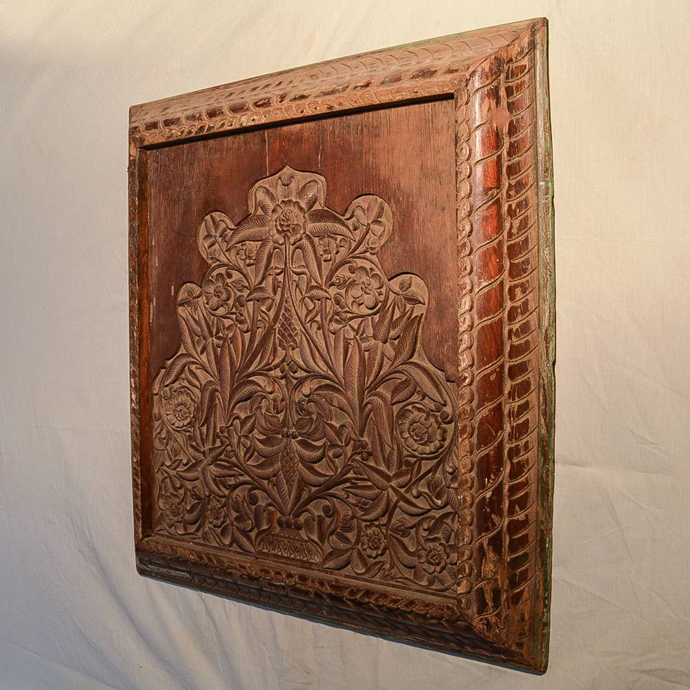 Wooden Handicrafts   Wall Hanging Engraved Leaf Wooden Frame — Lord ...