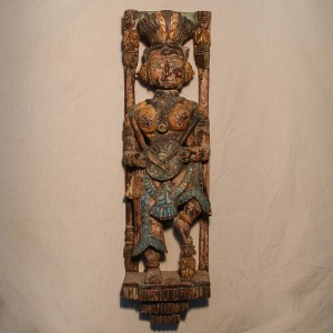 Wooden Handicrafts | Wooden Wall Hanging Lady Musician Sculpture 0463