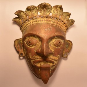 The Mask of Chamunda | Brass Statue 0363