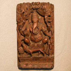 Wooden Handicrafts | Wooden Wall Hanging Ganesh ji Sculpture 0471