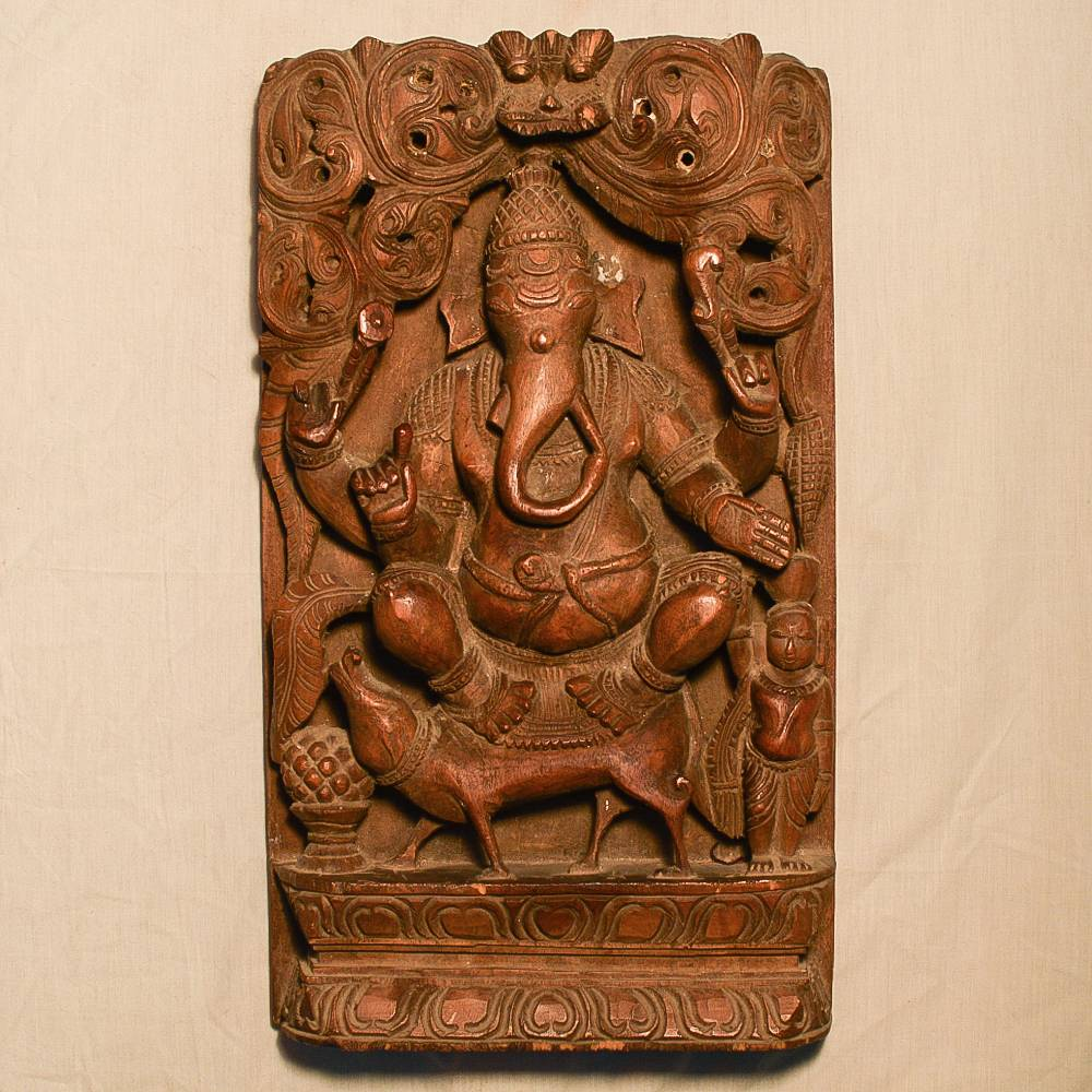 Wooden Handicrafts Wooden Wall Hanging Ganesh Ji Sculpture