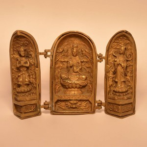 Chines Temple | Brass Statue 0367