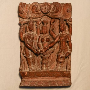 Wooden Handicrafts | Wooden Wall Hanging Three Lady Sculpture 0472