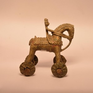 Horse Wheeled Toy | Brass Statue 0340