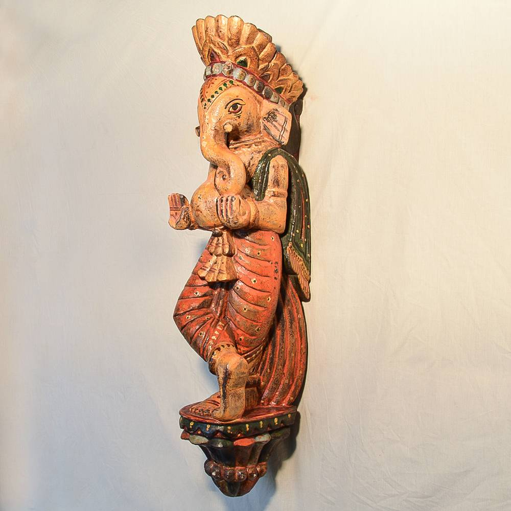 Wooden Handicrafts Wooden Wall Hanging Lord Ganesh