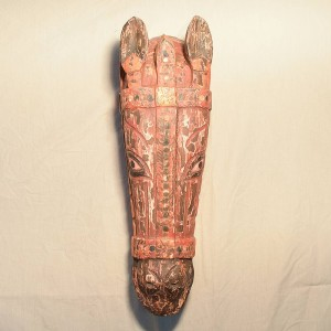 Wooden Handicrafts | Wooden Wall Hanging Horse Face Sculpture 0445