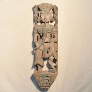 Wooden Handicrafts | Wooden Wall Hanging Women Sculpture 0448